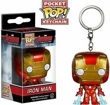 Avengers 2 Iron Man Pocket Pop Keychain Keyring Key Bag Clip Funko 6430