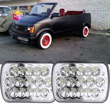 Dual Cree Led Headlights Sealed High Low Beam fit for 1990 chevrolet astro truck