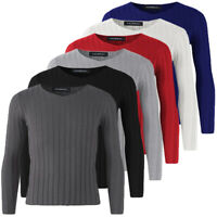 Winter Men Casual Knitted Jumper Pullover Sweater Tops V-neck Long Sleeve Shirts