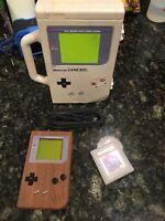 Original Gameboy Wood Grain Nintendo DMG-01 Tetris Carry Case Game Link Cable