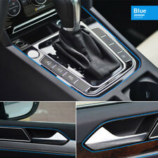 5M AUTO ACCESSORIES CAR Universal Interior Decoration Blue Line CHROME Shiny