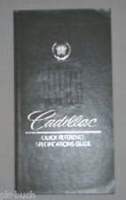 Datenhandbuch/Quick Reference Specifications Guide Cadillac 1993