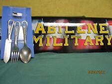 Mess Kit Knife Spoon Fork  Set & P38  Military Utensil Silverware Scout Camping