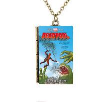 Creative Miniature Cartoon Deadpool Dead Presidents TINY Book Pendant Necklace