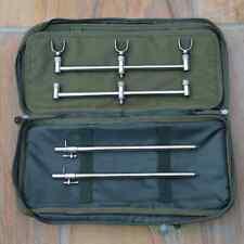 Buzz Bars Bank Sticks U Rests 3 Rod Set Up in Buzzer Bar Carry Bag Pouch