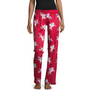 NWT  Christmas santa Fleece Women's Junior Lounge Pajama Pant Bottoms MEDIUM