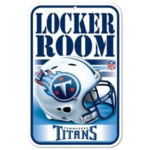 """TENNESSEE TITANS LOCKER ROOM PLASTIC SIGN 11""""X17"""" DURABLE POSTER"""