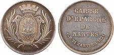 Nantes, Caisse d'Epargne, 1821, argent, abeille - 44