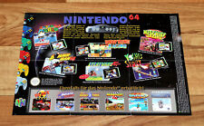 N64 Nintendo 64 Ad Flyer Mini Poster Diddy Kong Racing Donkey Land Bomberman GB