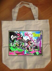 """Splatoon 2"" Custom Personalized Birthday Tote Bag Party Favor - NEW"