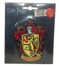 """Harry Potter Gryffindor New Crest Logo 4"""" Tall Embroidered Patch"""