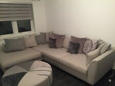 Large Corner Couch & Footstool-Light Grey-DFS - Only 10 Months old - Clean/Fresh