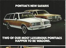 1979 PONTIAC SAFARI advertisement, STATION WAGONS ad, Bonneville, Grand Lemans
