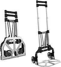New Listingfolding Hand Truck Dolly Cart Transport Trolley With Adjustable Handle
