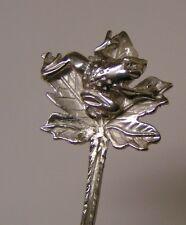 Salt Spoon Sterling Silver ( Frog on Leaf  )