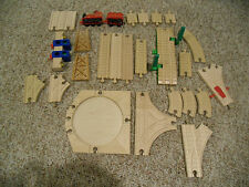Assorted 26 Piece Thomas the Train Wooden Train Set Tracks & Accessories - Euc