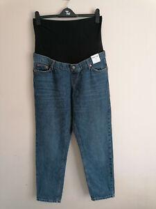 NEW Topshop Maternity Mom Blue Jeans UK 12 W30 L27