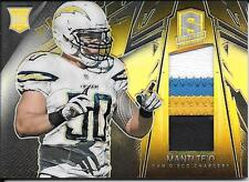 2013 Panini Spectra Rookie Materials Gold #222 Manti Te'o 4 Color Patch #07/10