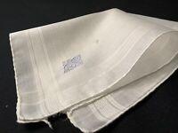 "#6084🌟Vintage c1910s CUTTER Fancy Blue Monogram ""G"" Wedding Linen Handkerchief"