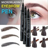 Microblading Tattoo Eyebrow Liquid Ink Pen Waterproof Fork Pencil Brow Definer n