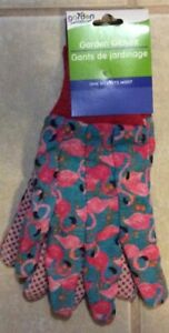 NEW Pink Flamingo Garden Gloves One Size Fits Most Grippers