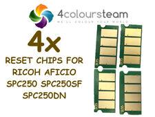 4x TONER RESET CHIPS FOR RICOH AFICIO SPC250  SP C250SF SP C250DN SPC250DN