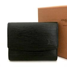 Louis Vuitton Epi Black Leather Trifold Wallet /A0097