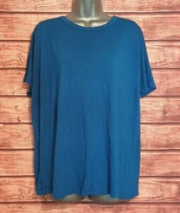DOROTHY PERKINS Size 18 BLUE T Shirt Top Casual VGC Women's Ladies Summer
