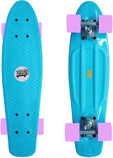 "Complete Highly Flexible Plastic Cruiser Board Mini 22"" Skateboards"