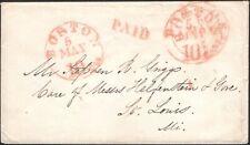 U.S., 1846. SFL Boston 5c/10c - St. Louis