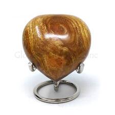 Wooden Heart Keepsake Urn for Funeral Human Ashes Usa