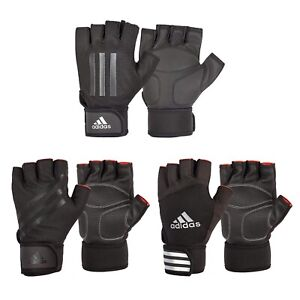 Adidas Weight Lifting Gloves Padded Gym Workout Fitness Exercise Wrist Strap
