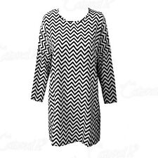UK Fashion Womens Ladies Long Sleeve Casual Loose Stripe Blouse Shirt Dress Tops