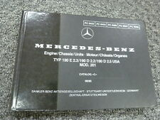 1984 1985 1986 Mercedes Benz 190D 2.2 Diesel Sedan Parts Catalog Manual