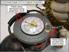 "1920's Michelin Man Air Pump Compressor Bibendum ""TOP Air Gauge COVER"" NEW!"