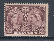 Canada Sc 57 MNH. 1897 10c brown violet QV Jubilee F-VF