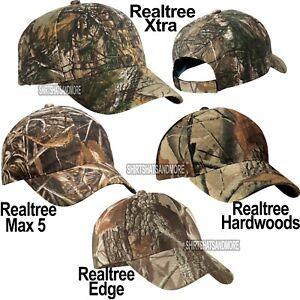 Realtree Xtra, Max 5, Hardwoods, Edge Camo Hat Baseball Cap Hunting Adjustable