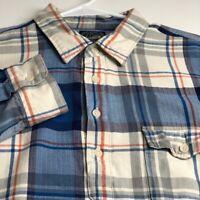 J. Crew Men's Long Sleeve Button Up Shirt Large L Multicolor Plaid Pocket Casual