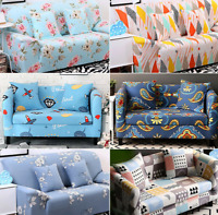 1/2/3/4 Seater Elastic Sofa Cover Slipcover Floral Stretch Couch Protector
