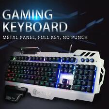PK-900 USB Wired 104 Keys Luminous Color Backlight Gaming Keyboard for PC Laptop