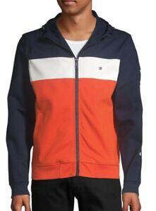Tommy Hilfiger Men's Striped Hoodie Track Jacket - Size M