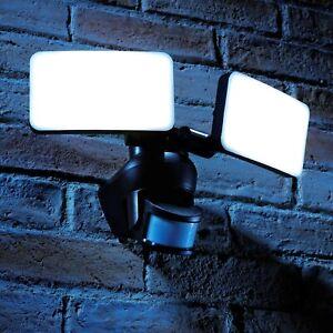 Auraglow 46W PIR Infrared Motion Sensor Outdoor Twin Security LED Flood Light