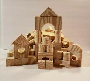 Foam Building Blocks Wood-like Grain 100 Pieces
