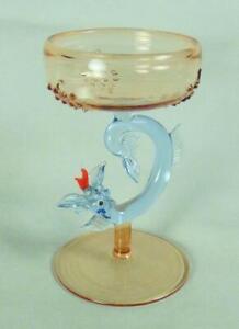 BIMINI Vintage LIQUEUR GLASS - SERPENT/ DRAGON Stem - Cocktail or Aperitif Glass