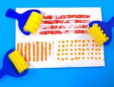 Pattern Rollers  - 7.0cm - sponge  -  X 3 unique designs / patterns - Yellow set