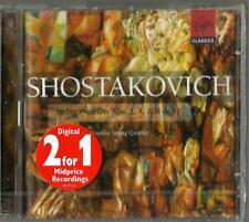 SHOSTAKOVICH: String Quartets Nos. 2, 3, 7, 8 & 12 (CD, Feb-2000, 2 Discs) NEW