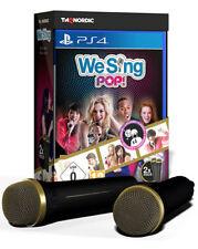 Sony ps4 Playstation 4 Jeu *** We Sing Pop + micros *** neu*new*55