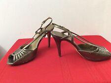 Escada slingback Pumps shoes Heels Neutral Gold size 38.5.        (box35)
