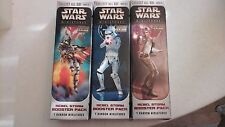 Star Wars Miniatures Rebel Storm Booster opened with Scout Trooper on Speeder