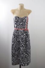 Cotton Blend Strapless Dresses Stripes